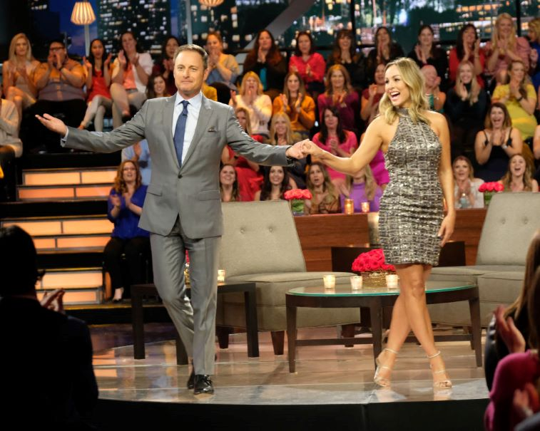 'The Bachelorette' Clare Crawley with host Chris Harrison
