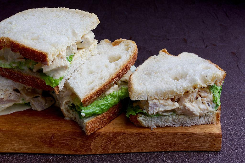 Coronation Chicken Sandwiches