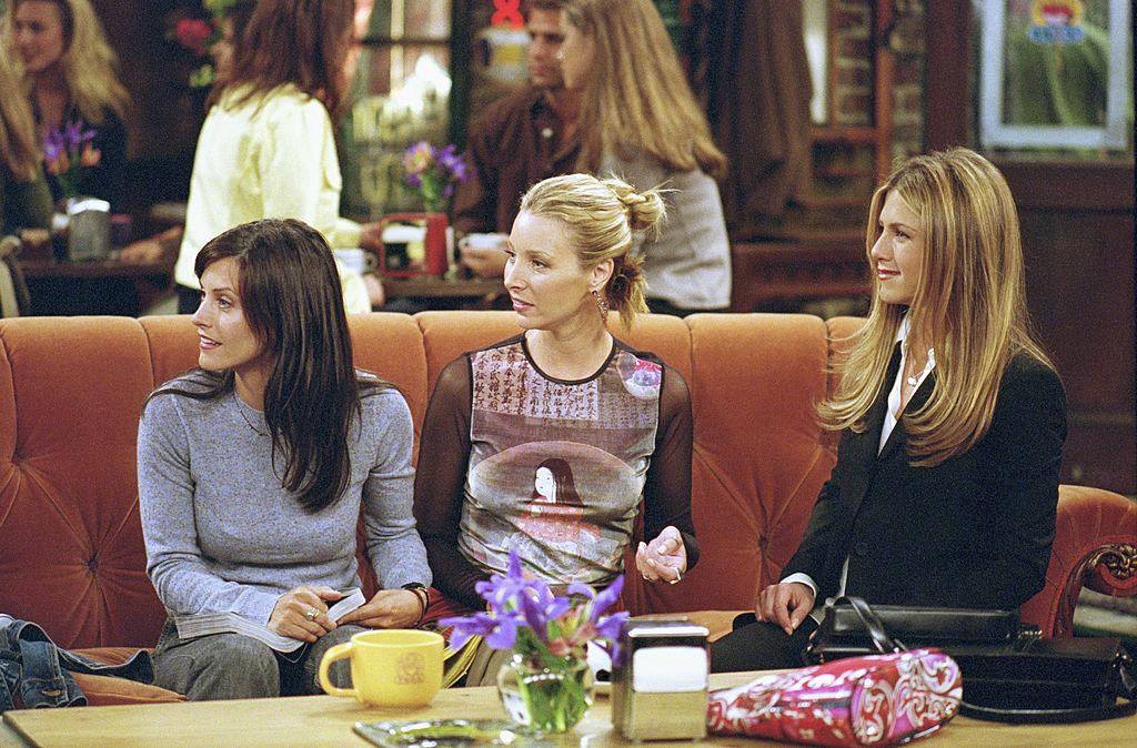 Courteney Cox as Monica Geller, Lisa Kudrow as Phoebe Buffay, and Jennifer Aniston as Rachel Green | NBCU Photo Bank