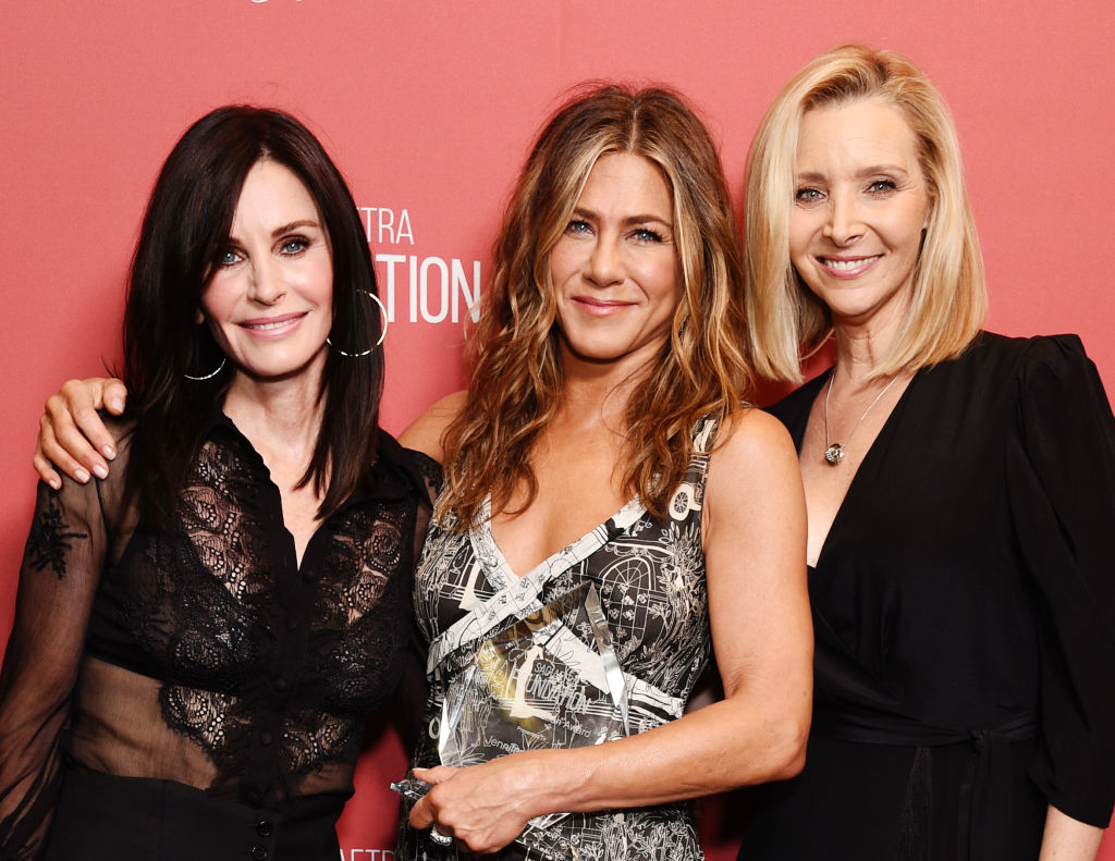 Courteney Cox, Jennifer Aniston, and Lisa Kudrow attend SAG-AFTRA Foundation's 4th Annual Patron of the Artists Awards