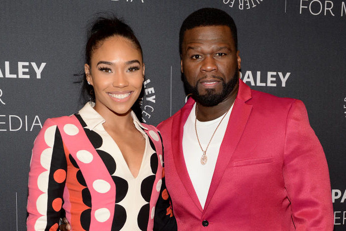 Jamira 'Cuban Link' Haines and Curtis '50 Cent' Jackson on the red carpet