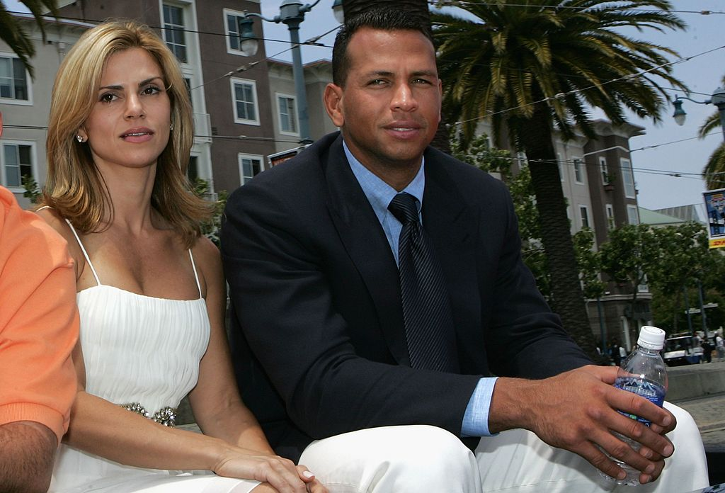 Cynthia Scurtis and Alex Rodriguez, slightly smiling