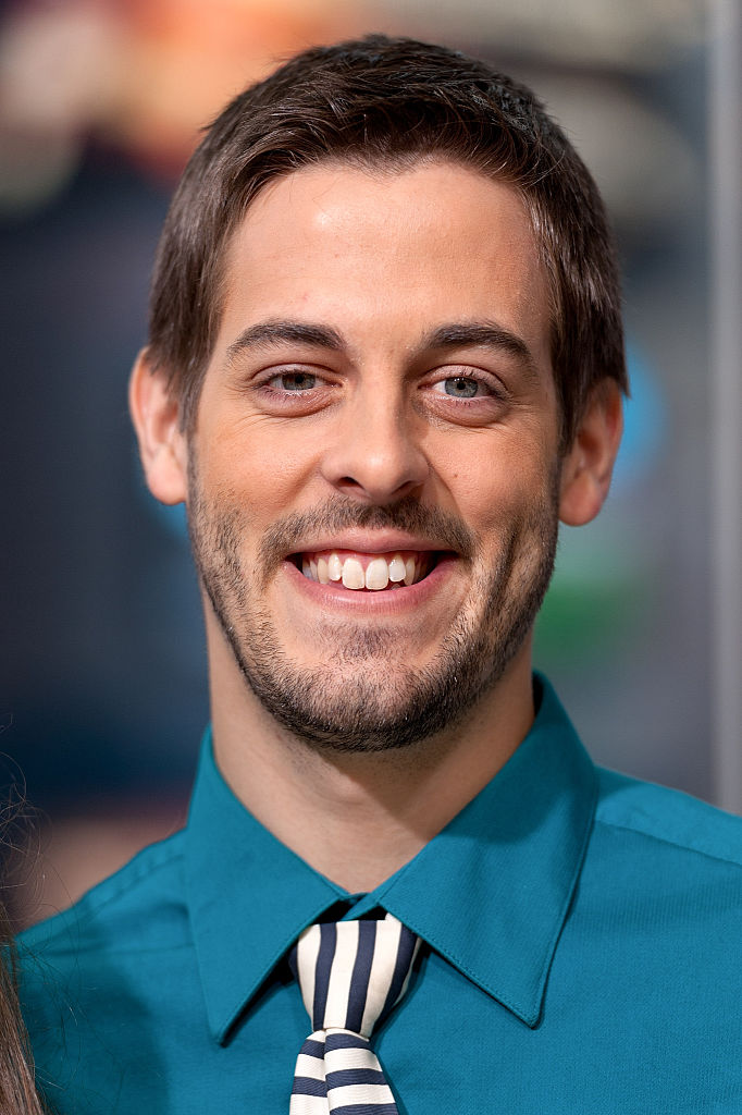 Derick Dillard visits 'Extra' at their New York studios in Times Square on October 23, 2014