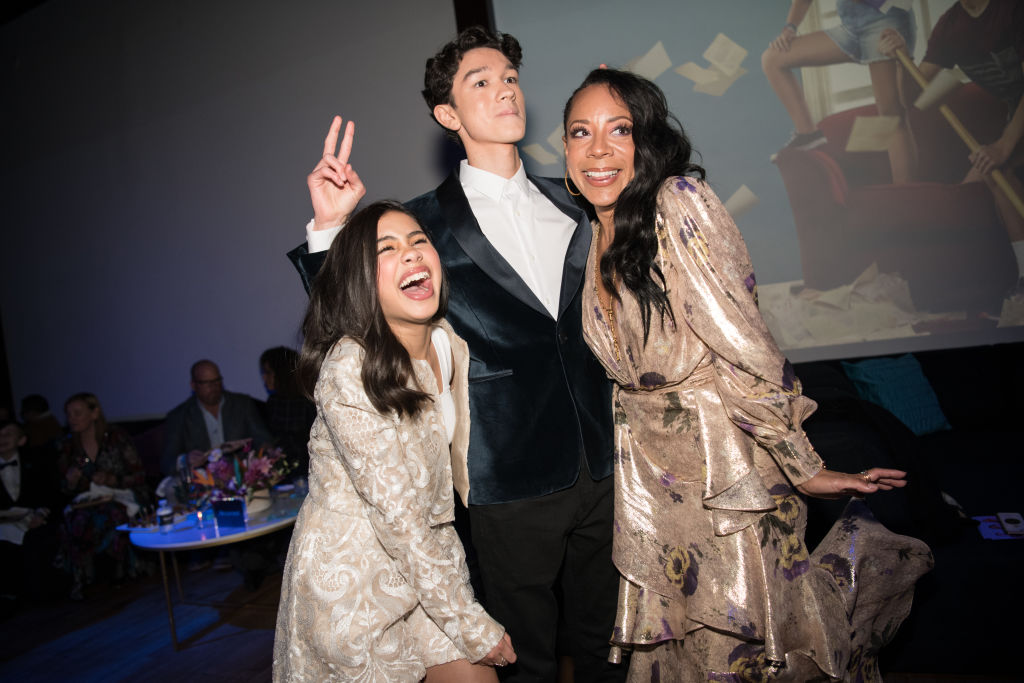 Tess Romero, Charlie Bushnell, and Selenis Leyva arrive at the Disney+'s 'Diary Of A Future President'