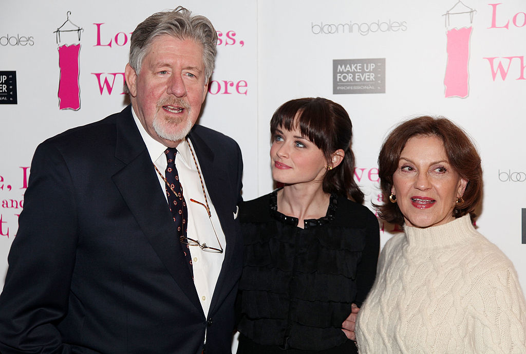 "Edward Herrmann, Alexis Bledel and Kelly Bishop attend the ""Love, Loss, and What I Wore"" 500th performance celebration at B Smith's Restaurant"