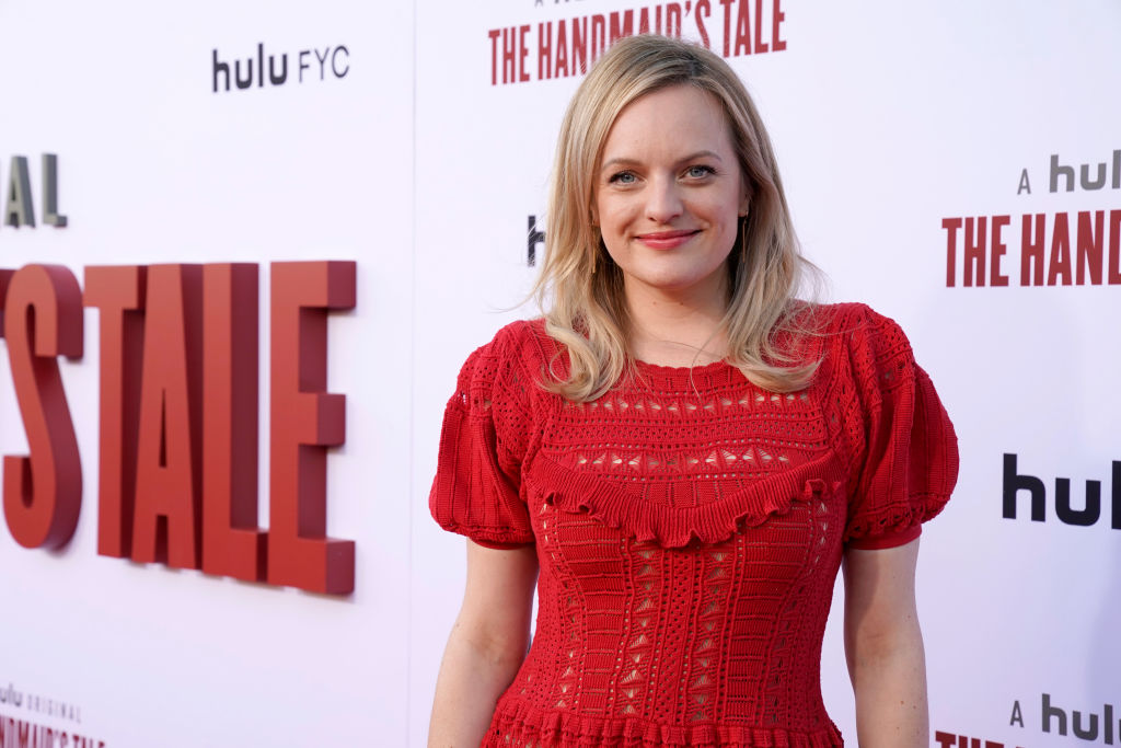 "Elisabeth Moss attends Hulu's ""The Handmaid's Tale"" season 3 finale at Regency Village Theatre on August 06, 2019 in Westwood, California."