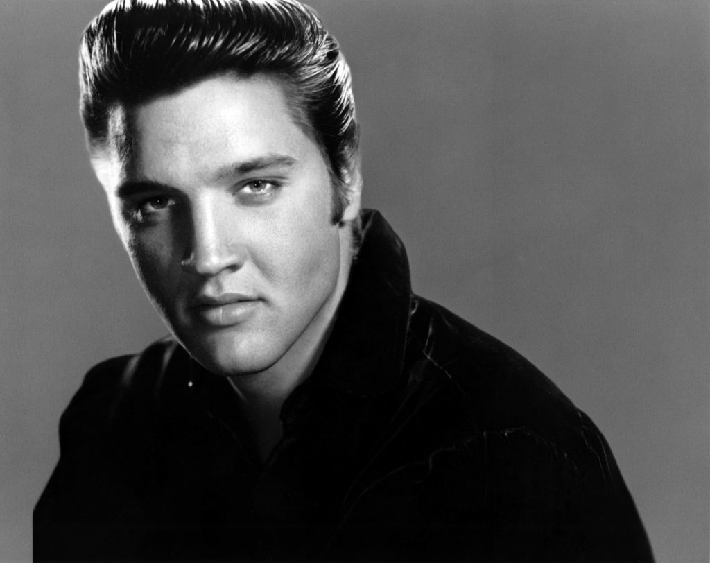 an undated studio photo of Elvis Presley