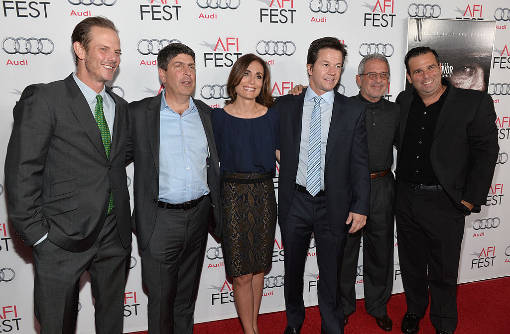 Peter Berg, Chairman of Universal Filmed Entertainment Jeff Shell, producer Sarah Aubrey, actor Mark Wahlberg, Ron Meyer, Vice-Chairman, NBCUniversal and producer Randall Emmett