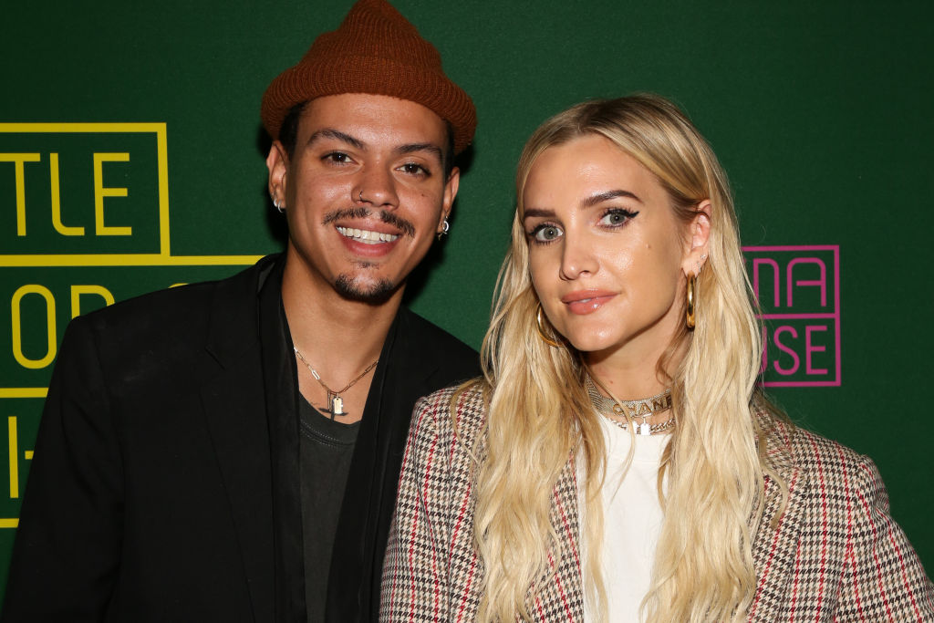 Evan Ross and Ashlee Simpson Ross attend opening night of 'Little Shop Of Horrors'