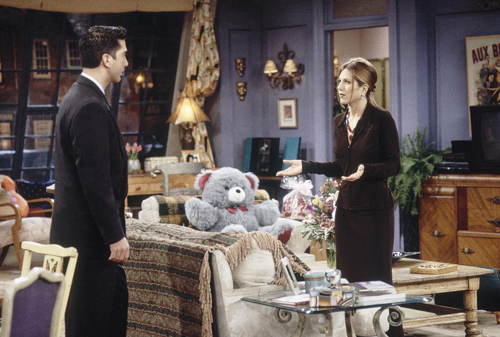Friends: David Schwimmer and Jennifer Aniston