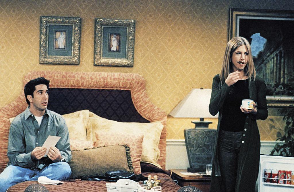 Friends Ross and Rachel