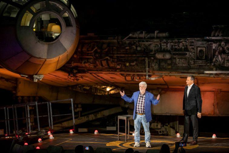 George Lucas, 'Star Wars' creator and Bob Iger, CEO of the Walt Disney Company