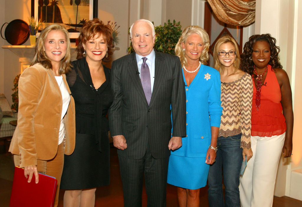 Star Jones, far right, pictured on 'The View' in 2004 with, from left, Meredith Vieira, Joy Behar John and Cindy McCain, and Elizabeth Hasselbeck