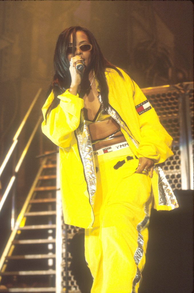 Aaliyah in Tommy Hilfiger