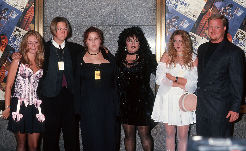 Roseanne Barr and family