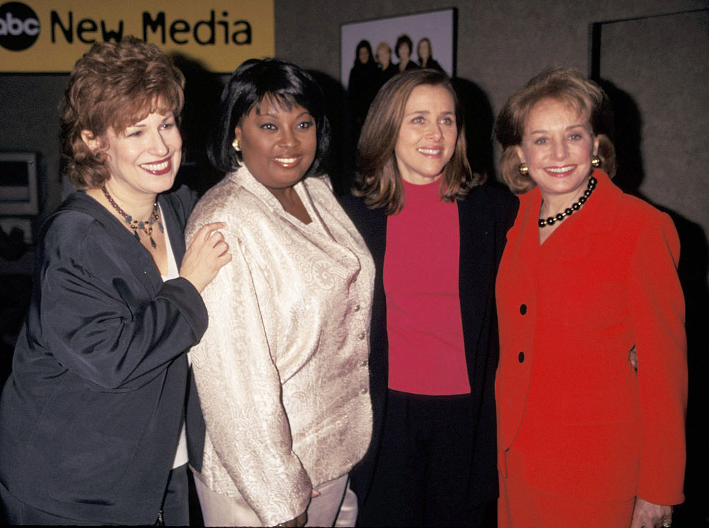 Barbara Walters (far right) with three of her original 'The View' panelists: Joy Behar, Star Jones, and Meredith Vieira