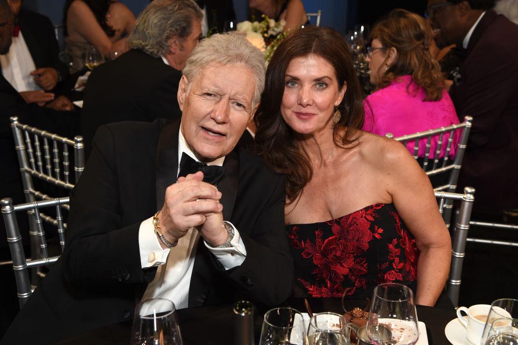 'Jeopardy!'  host Alex Trebek and wife, Jean