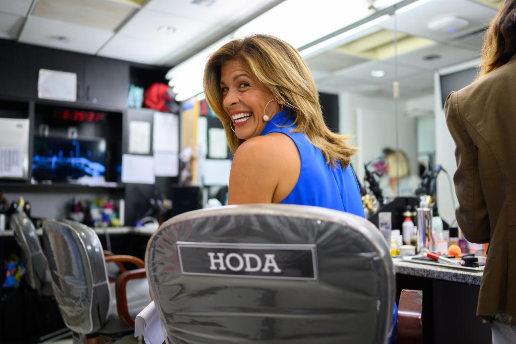 Hoda Kotb on the 'Today Show' set