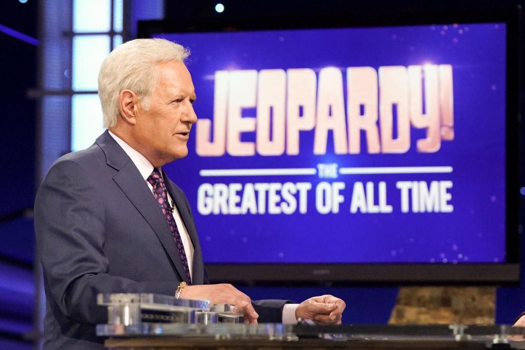 Alex Trebek on the set of 'Jeopardy!'