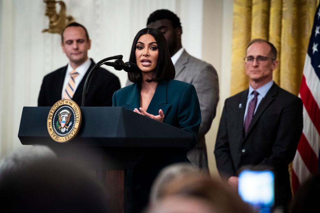 Kim Kardashian West at the White House