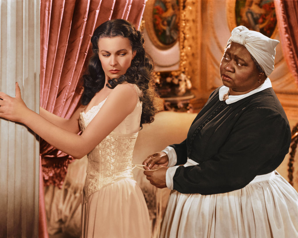 Actresses Vivian Leigh and Hattie McDaniel in the 1939 film 'Gone With The Wind'