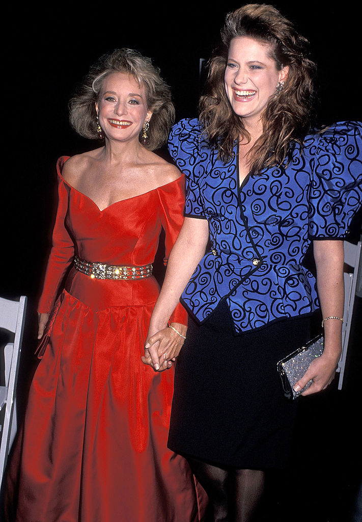 Barbara Walters and her daughter, Jackie, in 1990