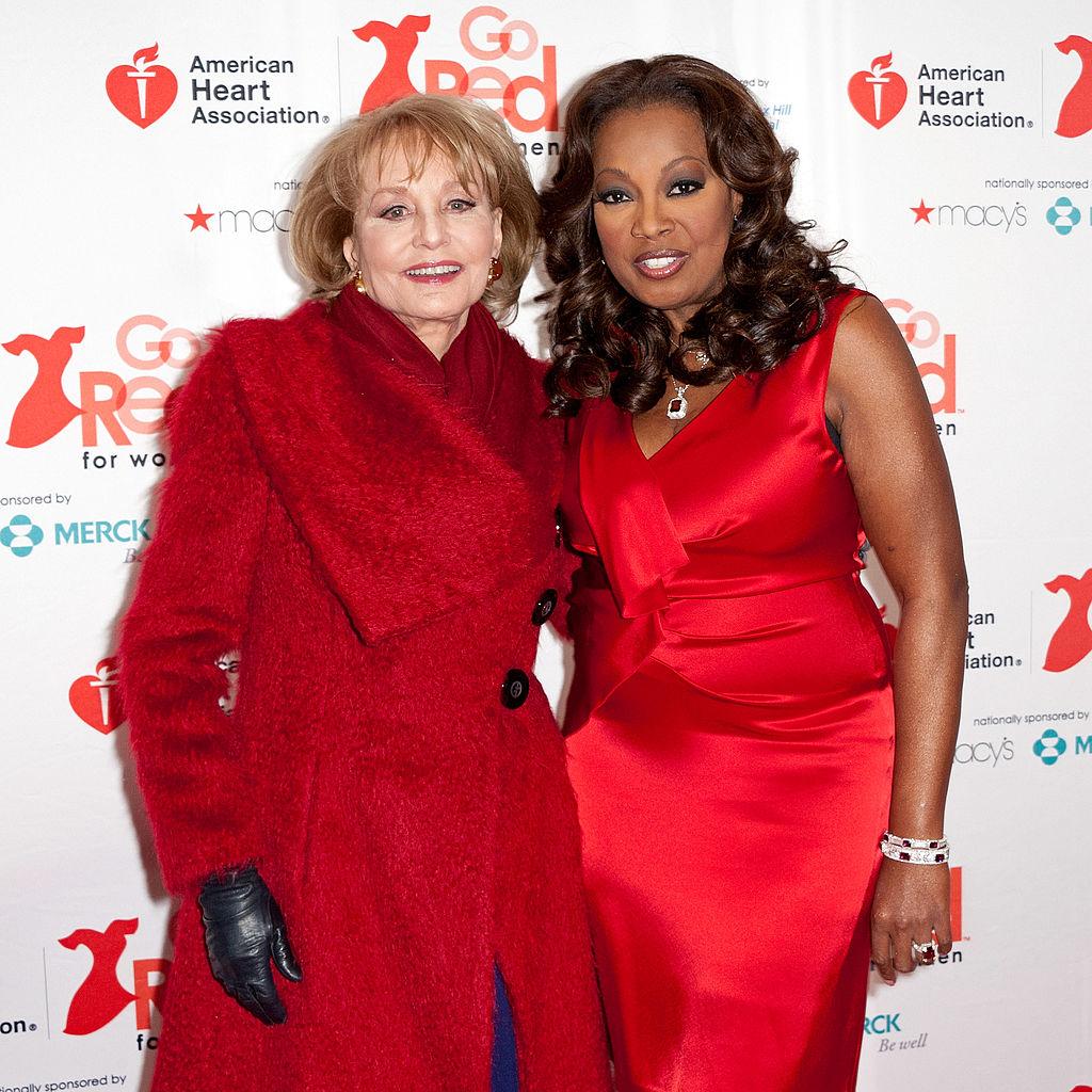 Barbara Walters and Star Jones in 2012