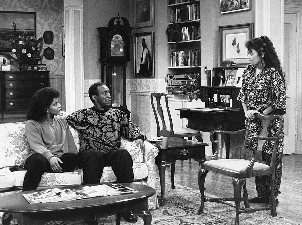 Phylicia Rashad, Bill Cosby, and Lisa Bonet in 'The Cosby Show'