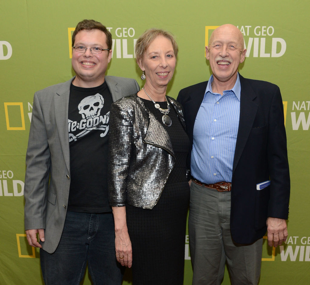 (left to right): Charles Pol and his parents Diane Pol and Dr. Pol