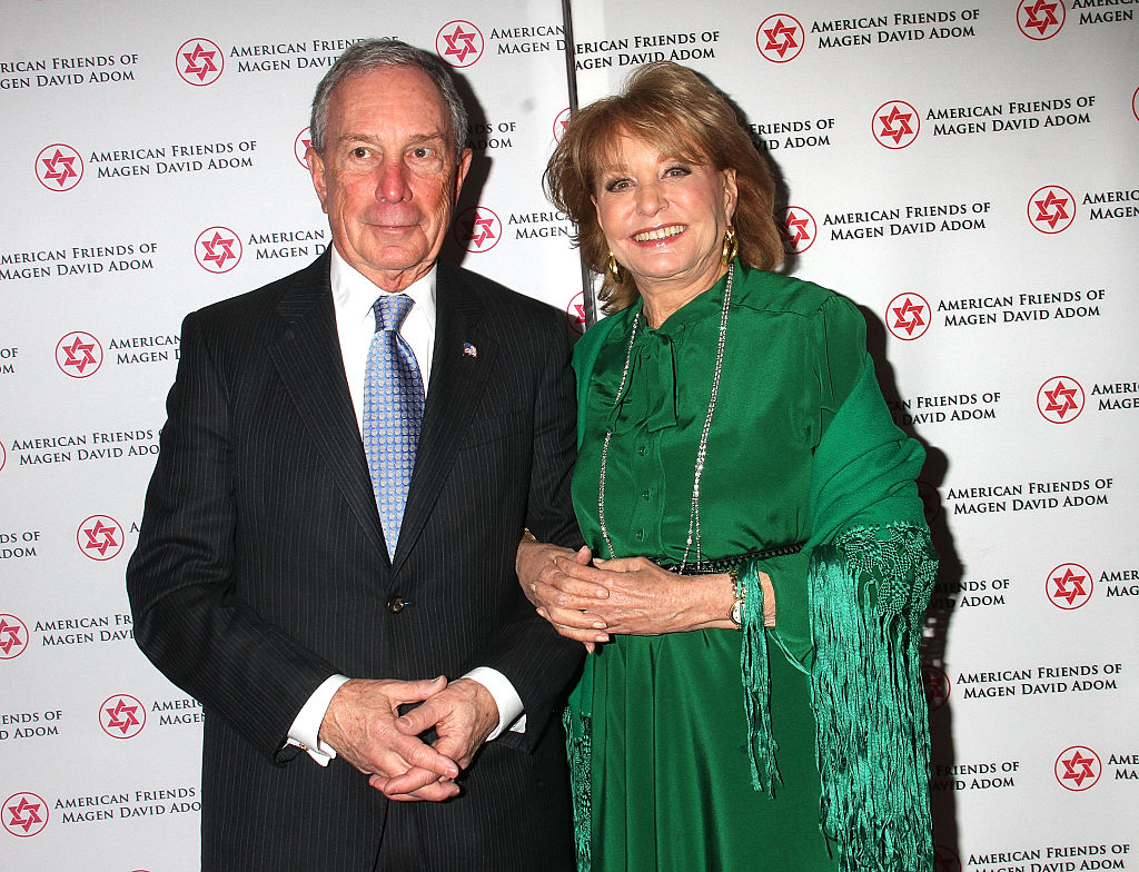Former NYC Mayor Mike Bloomberg and Barbara Walters in 2014