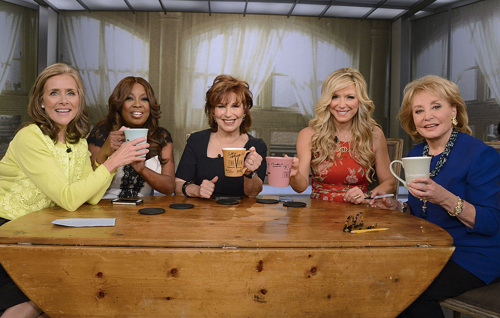 Debbie Matenopoulos and Barbara Walters, far right, with the original panel of 'The View' in 2014