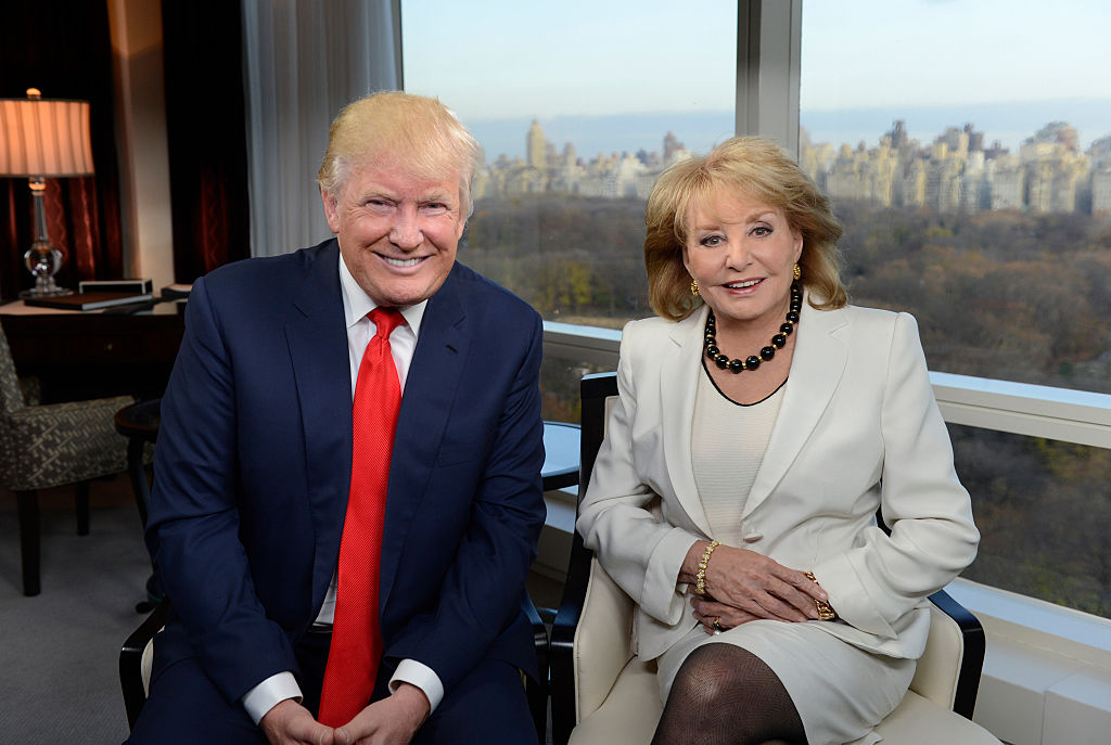 Donald Trump and Barbara Walters in 2015