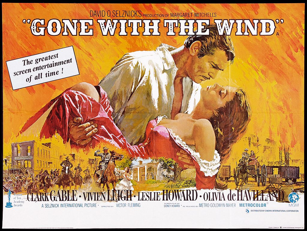Promotional poster for 'Gone With The Wind'