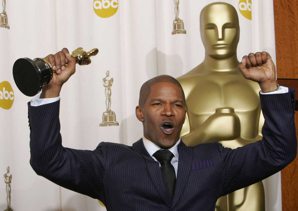 Jamie Foxx in 2005 with his Oscar for 'Ray'