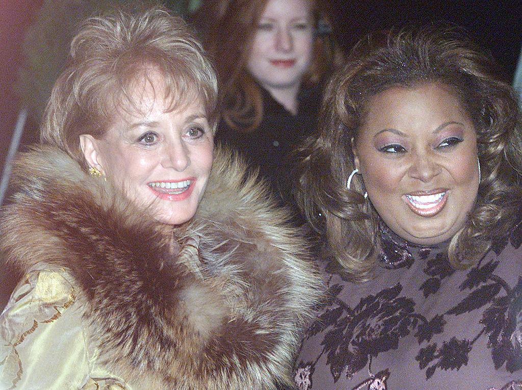 Barbara Walters and Star Jones in 2000