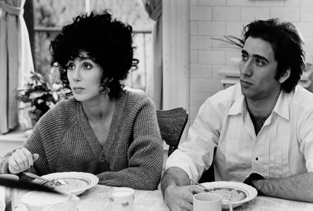 Cher and Nicolas Cage in 1987's Oscar-winning 'Moonstruck'