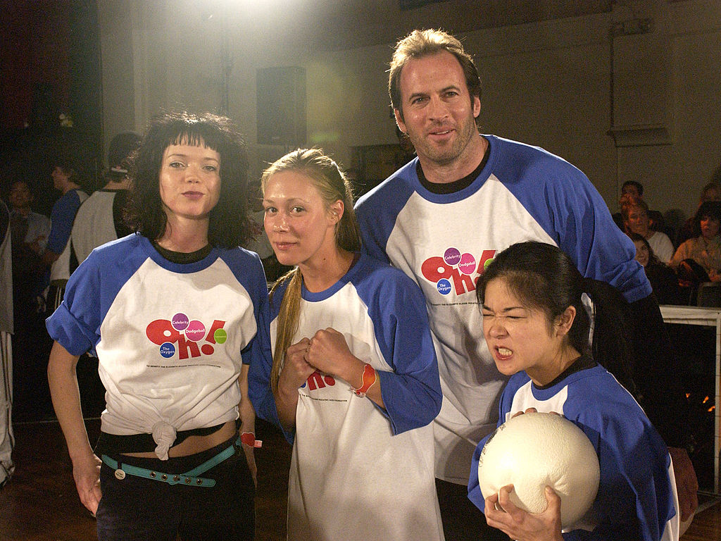 Shelly Cole, Liza Weil, Scott Patterson and Keiko Agena participate in Oxygen Celebrity Dodgeball Tournament to Benefit the Elizabeth Glaser Pediatric AIDS Foundation