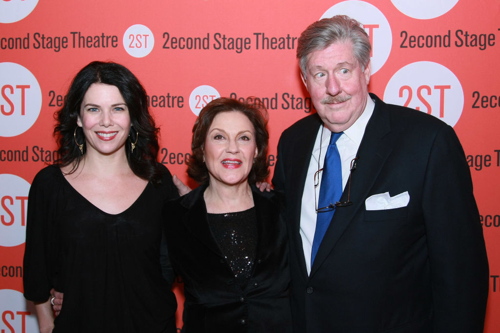 """Lauren Graham, Kelly Bishop and Edward Herrmann attend the opening night after party for """"Becky Shaw"""" at Spanky's on January 8, 2009"""