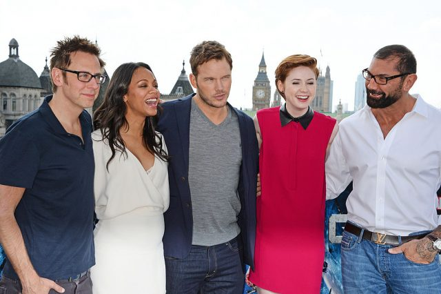James Gunn and the 'Guardians of the Galaxy' cast