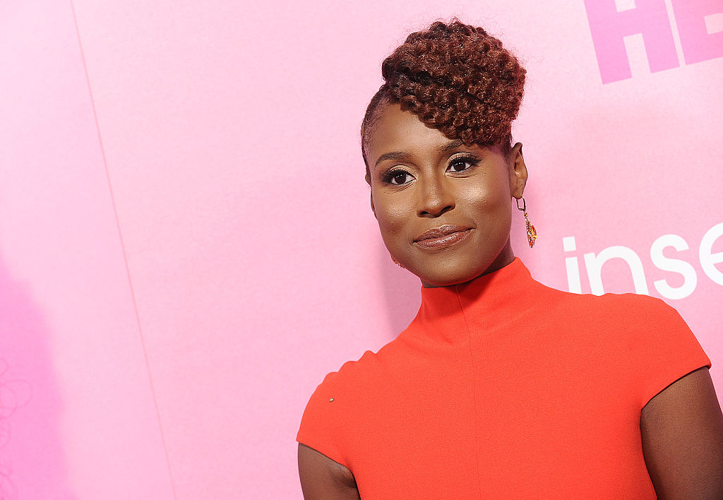 Issa Rae on the red carpet at an event in October 2016