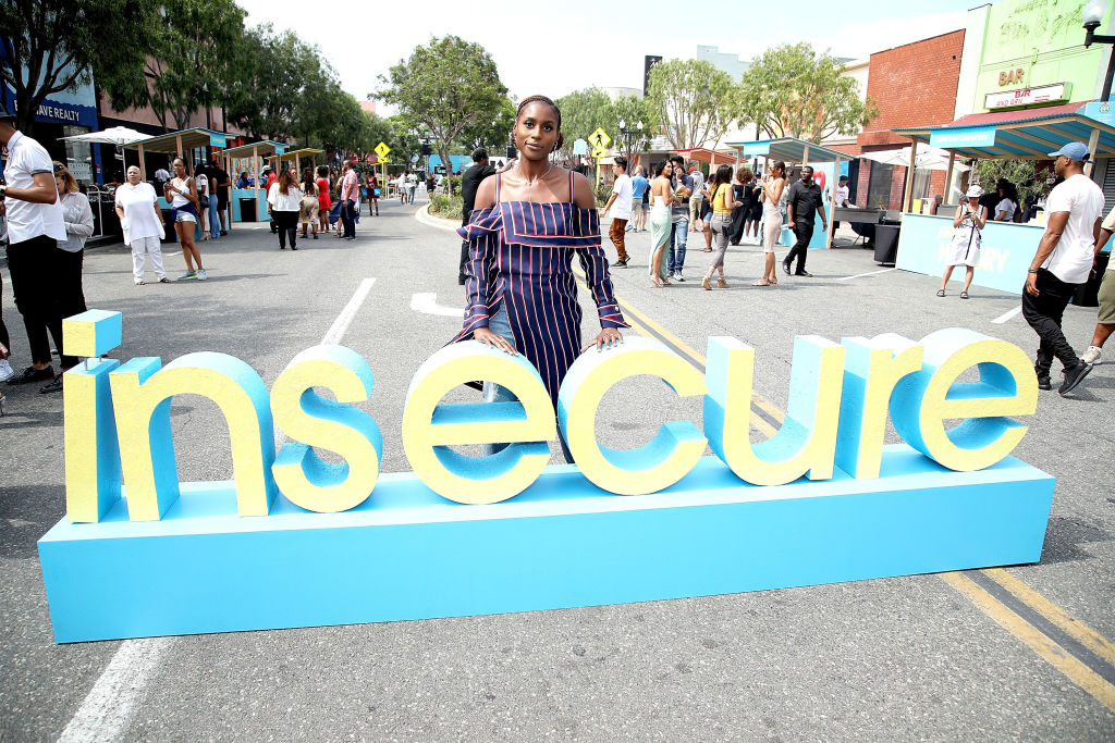 Issa Rae at a party for 'Insecure' in July 2017
