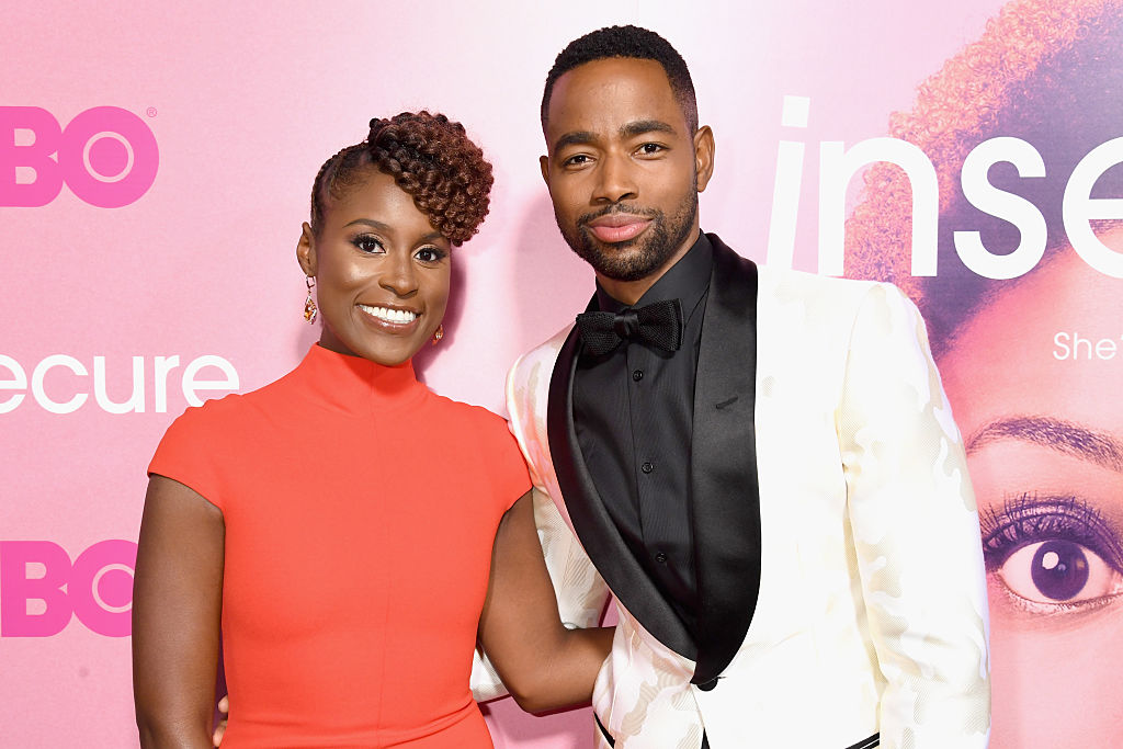 Issa Rae and Jay Ellis at an event in October 2016 in Los Angeles, California