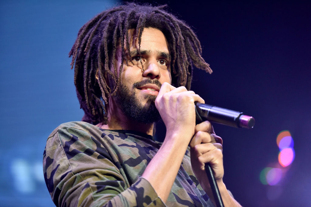 J. Cole at a concert in November 2017