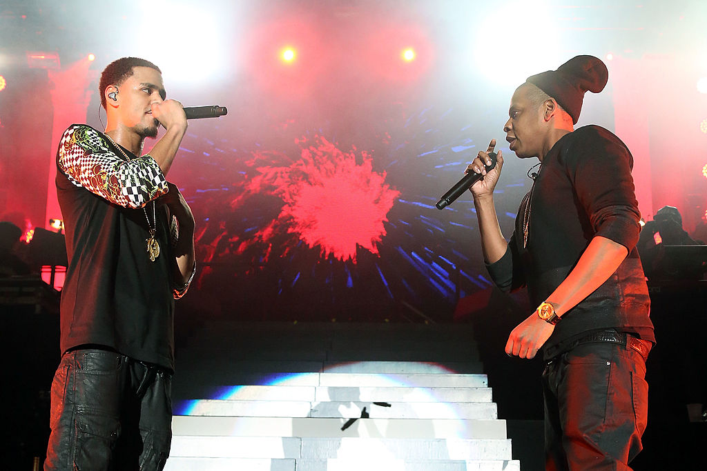 J. Cole and JAY-Z at a concert in January 2014