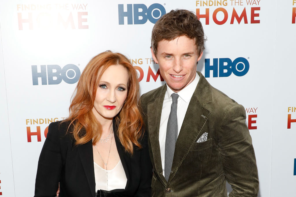 Creator of Harry Potter, J.K. Rowling and actor, Eddie Redmayne
