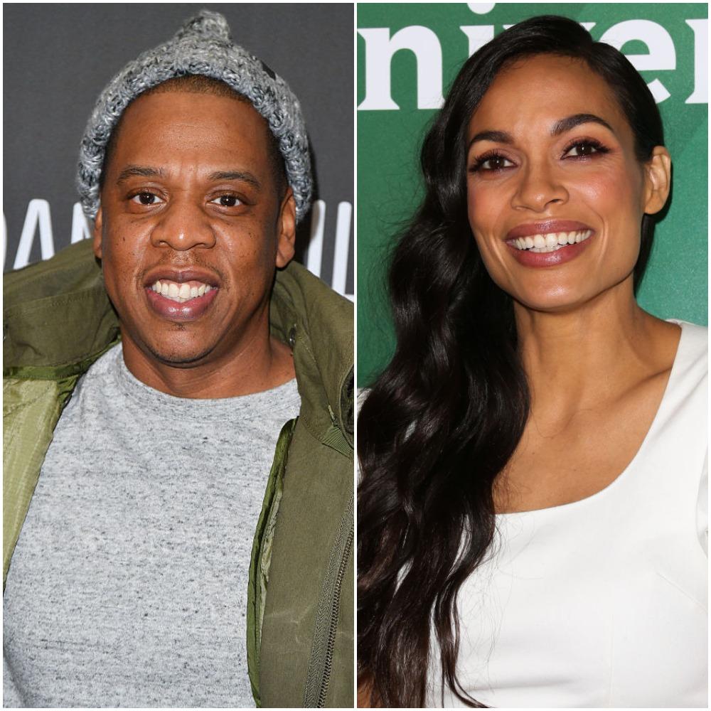 Jay-Z and Rosario Dawson
