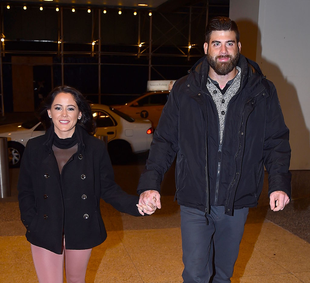 Jenelle Evans and David Eason are seen at the Lion King