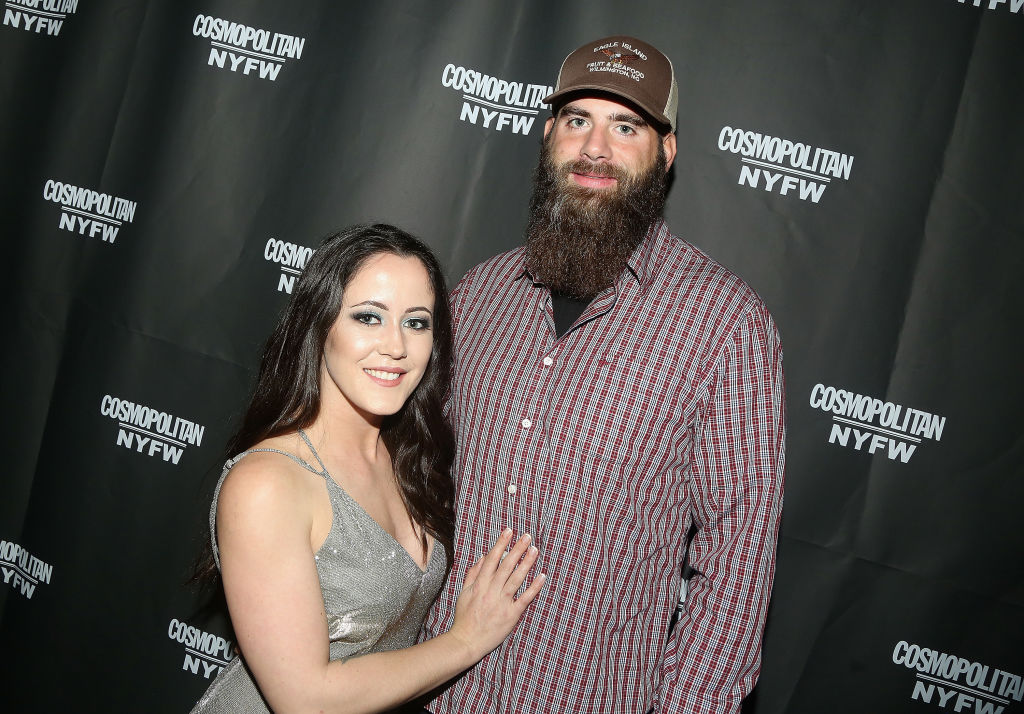 Jenelle Evans and David Eason pose at the Cosmopolitan New York Fashon Week #Eye Candy event After Party at Planet Hollywood