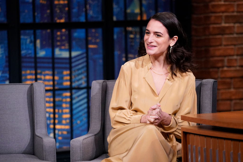 Jenny Slate voice actor on 'Big Mouth' during an interview with host Seth Meyers on November 6, 2019