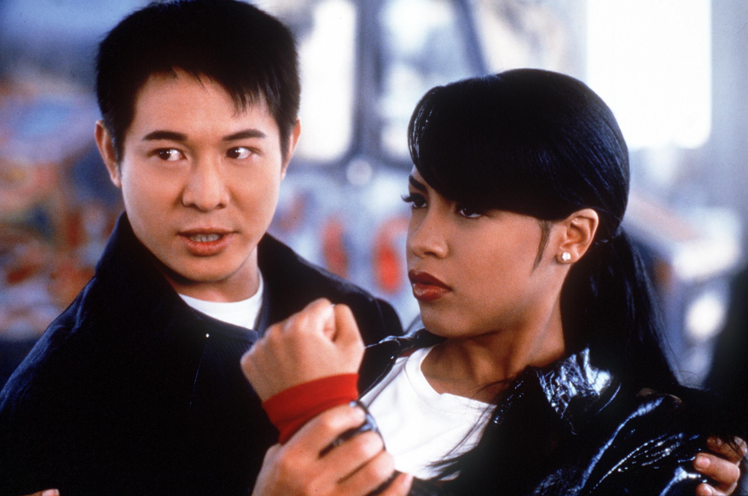 Jet Li and Aaliyah